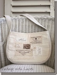 French Bag - Vintage with Laces