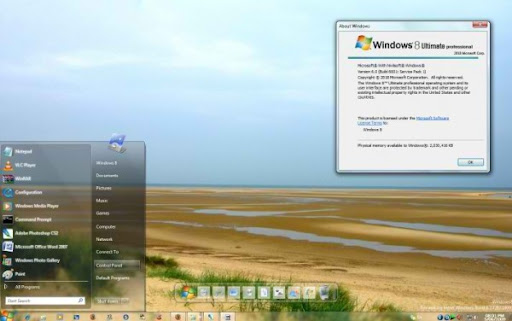 Windows 8 7282 RC Theme