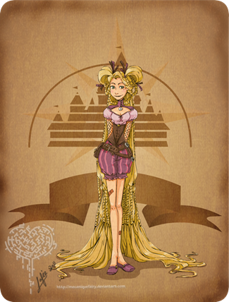 Disney Steampunk Rapunzel by MecaniqueFairy