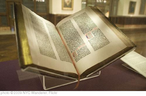 'Gutenberg Bible' photo (c) 2009, NYC Wanderer - license: http://creativecommons.org/licenses/by-sa/2.0/