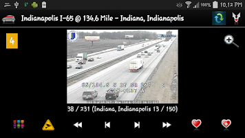 Screenshot of Cameras Indiana - traffic cams
