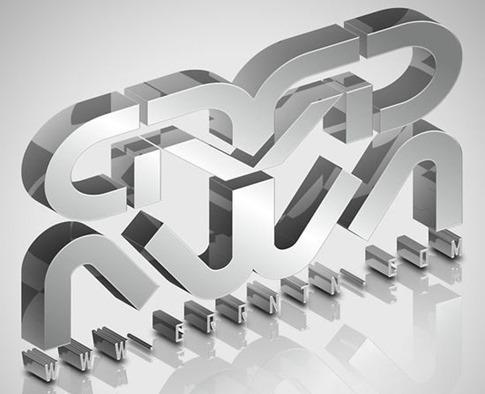 Crear Tipografía 3D elegante