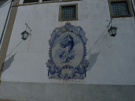 Portuguese tiles on a church in Guimaraes