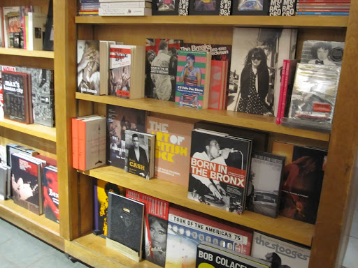 On the left you can see the new Keith Richards book.