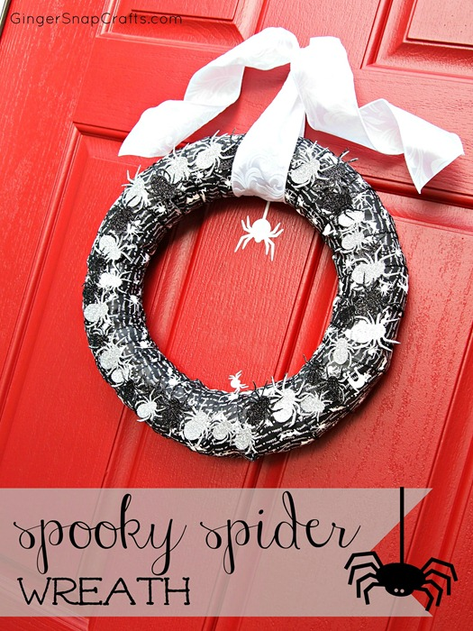 Ginger Snap Crafts spider wreath