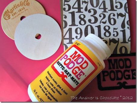 Mod Podge Recollections Numbers Paper
