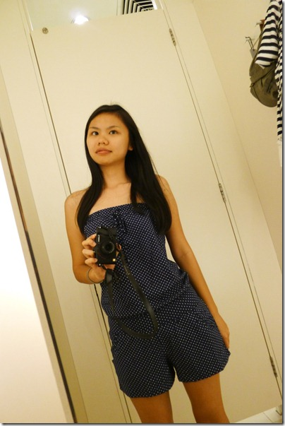 blue polka romper.. too bad i don't own this