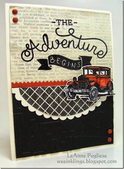 LeAnne Pugliese WeeInklings Paper Players 239 Guy Greetings Adventure Awaits Stampin Up