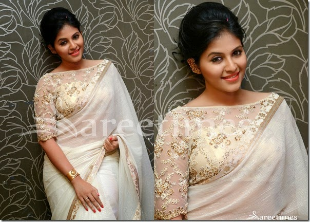 Anjali_White_Saree(2)