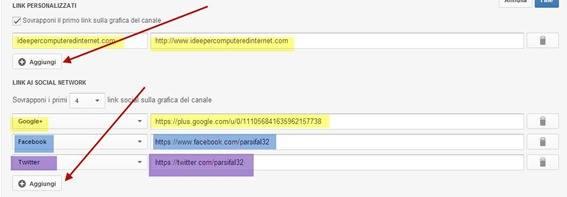 link-personalizzati-social-network