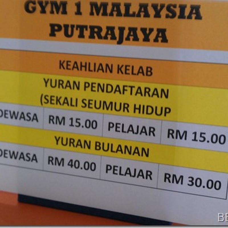 Kecewa dengan kenaikkan harga yuran GYM 1MALAYSIA