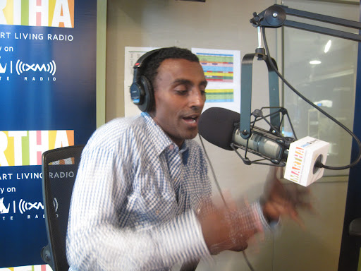 Chef Marcus Samuelsson is animated and excited about the food he cooks.