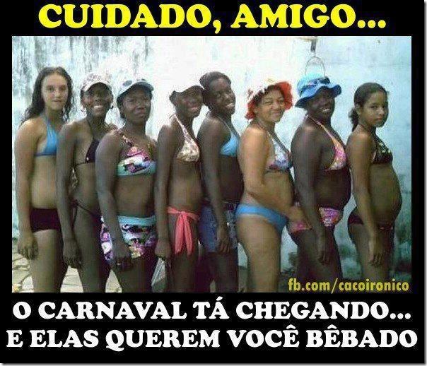 Tenha muito cuidado neste carnaval
