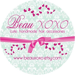 beau xoxo label 3 inch