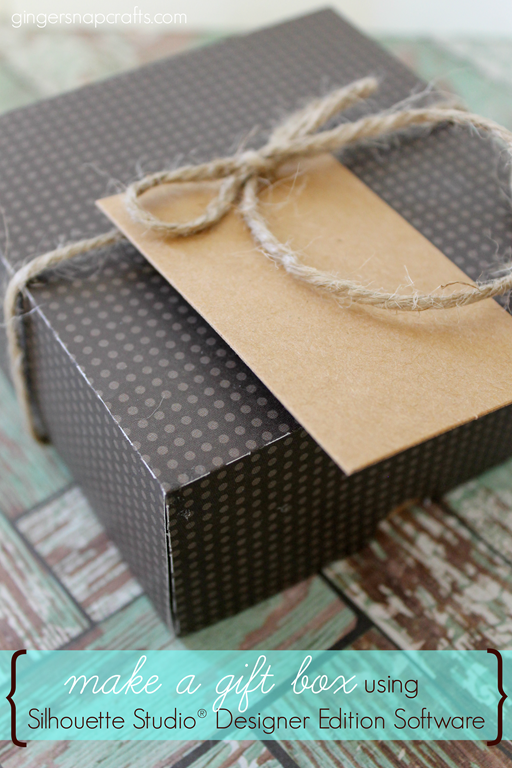 making a gift box using Silhouette Studio® Designer Edition Software at GingerSnapCrafts.com #Silhouette #tutorial #spon