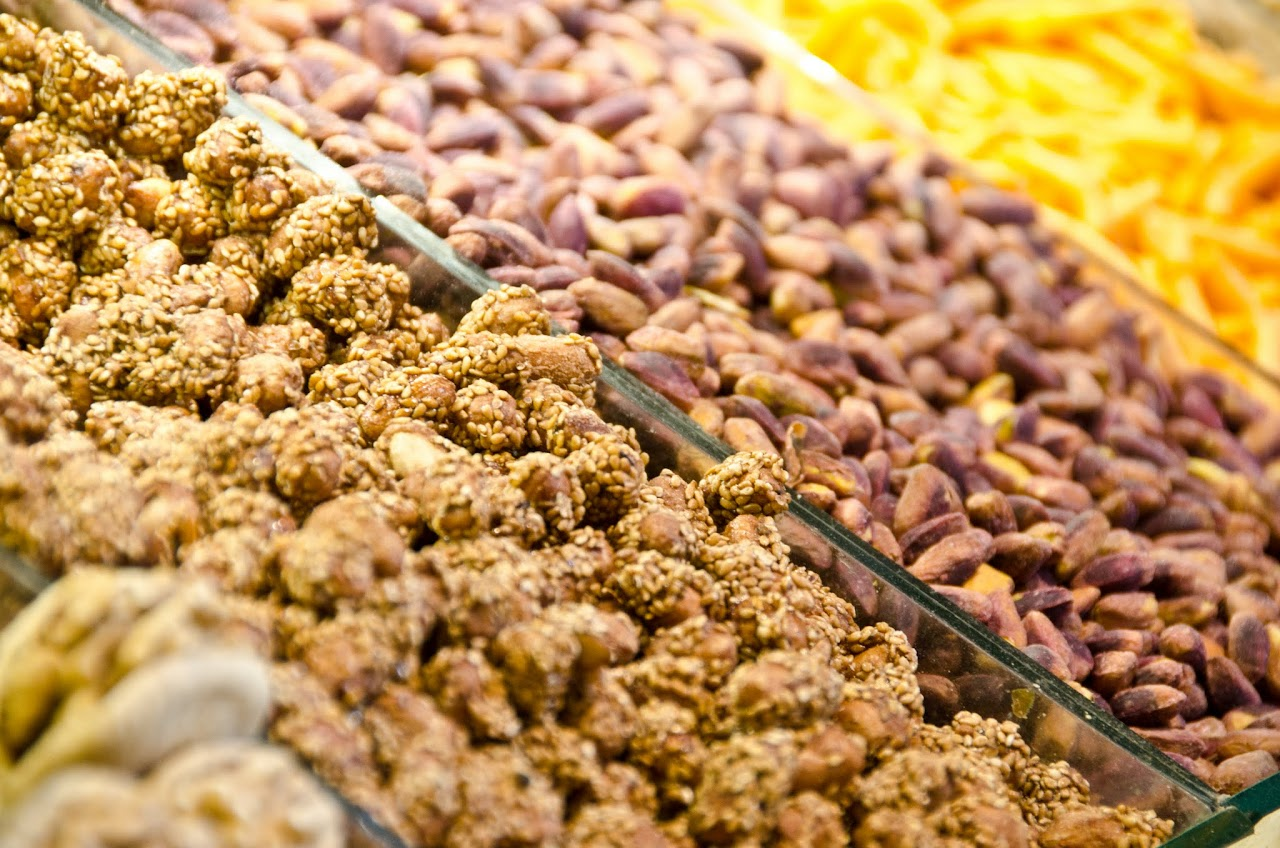 Nuts at spice bazaar