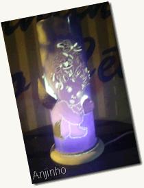 Luminaria anjinho azul PVC