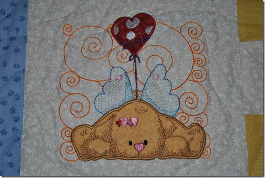 Angel Puppy Quilt 2