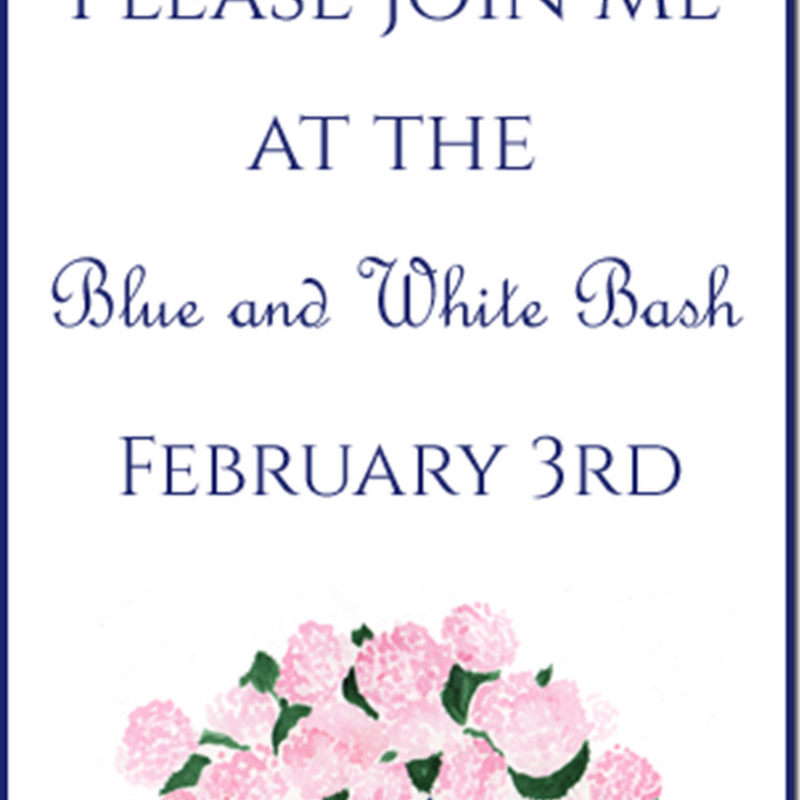 February Blue and White Bash.