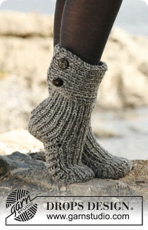 Moon socks fra Garnstudio