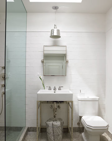 Eric Pike's bathroom is all about simplicity and clean lines.