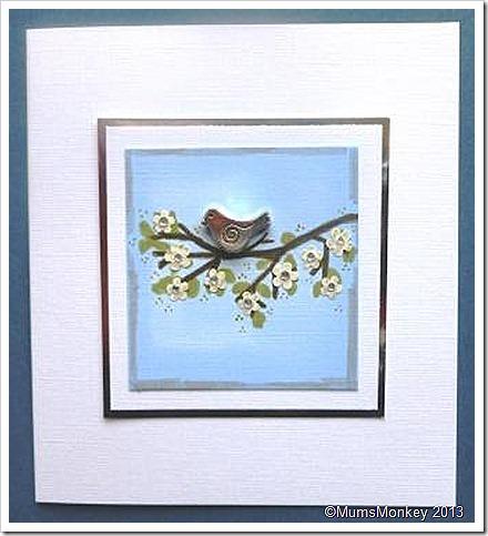 Bird blossom card