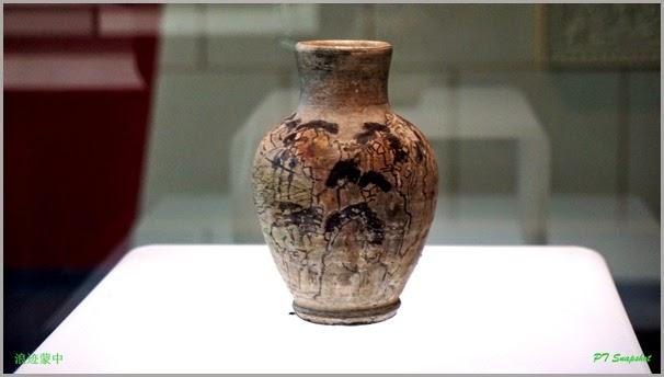 山水图陶罐