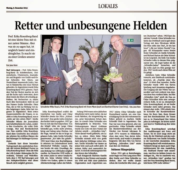 Rosenberg-Band Zeitungsartikel