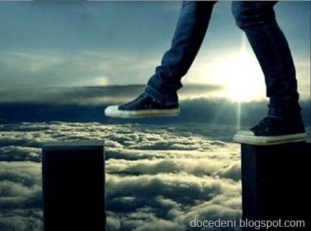 pisar nas nuvens