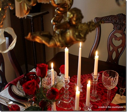 happy valentine's day tablescape
