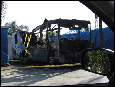 burned motorhome