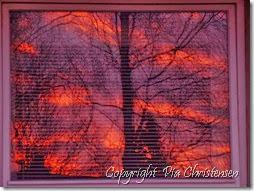 Solopgang i vinduet 1.1.2014