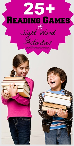 25+ Reading games & Sight Word Actiivites (spelling games & sight word games)