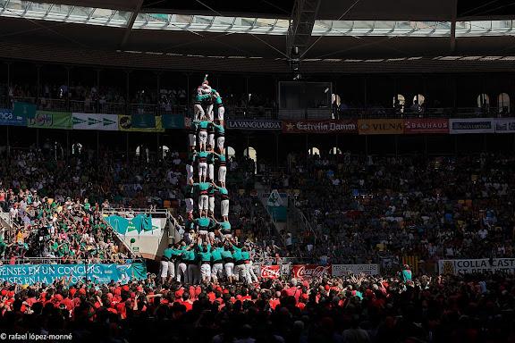 Castellers de Vilafranca, 5 de 9 amb folre.XXIIIe Concurs de Castells a Tarragona.Tarraco Arena Placa (antiga placa de braus).Tarragona, Tarragones, Tarragona