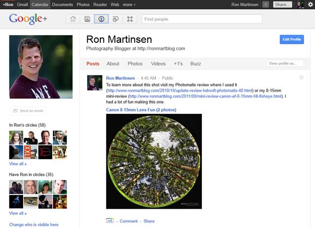 Join ronmartblog.com on Google+