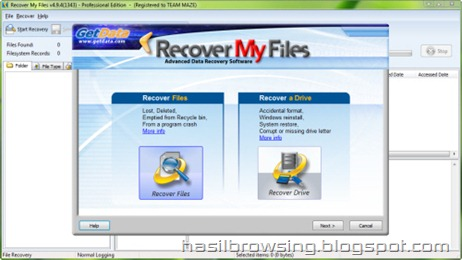 recover my files screenshot