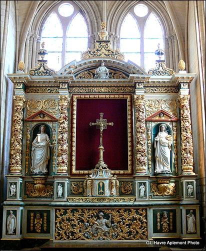 abbaye de graville - retable