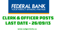 Federal bank recruitment 2013