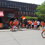 orange bike at SCHOOL in Toronto, Ontario, Canada