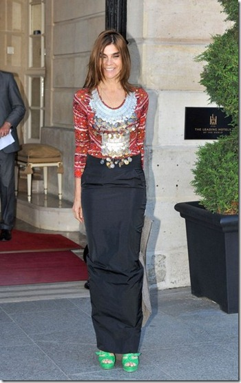 Carine Roitfeld Arrivals Versace Couture SJvVgaETNaml