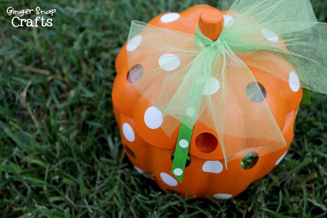 polka dotted pumpkin tutorial #spon
