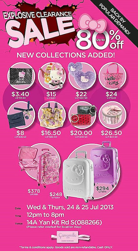 HELLO KITTY CAMOMILLA MILANO SALE 2013 BAGS totebag satchel luggage, wristlet, ACCESSORIES PLUSH TOYS WAREHOUSE OFFERS cushions bag charms Kitty Girl Bijoux fashion jewellery tableware cultery