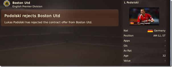 Podolski rejected Boston United