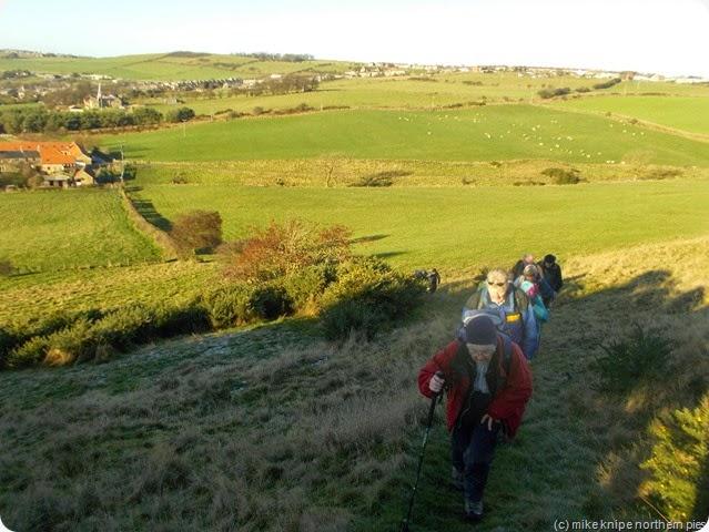 climbing dowfold hill