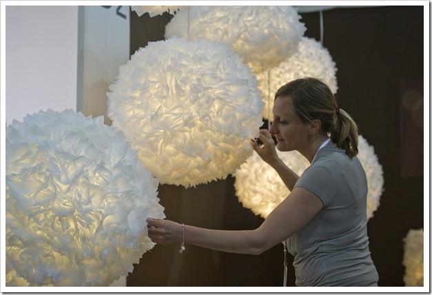 Impressionen aus der designmesse.ch, aufgenommen am Freitag 1. Juni 2012 in Zuerich. Die designmesse.ch findet vom 1. bis 3. Juni 2012 in der Halle 9 der Messe Zuerich statt.<br />Bild: Urs Jaudas/designmesse.ch