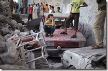 Bombardamenti nella Striscia di Gaza