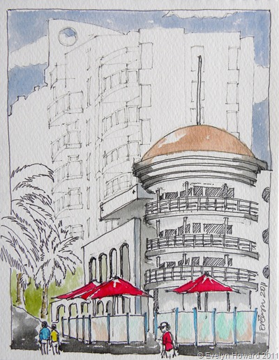 Port Melbourne Sketch © Evelyn Howard 2011