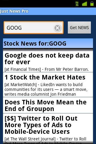 Just Market News Pro