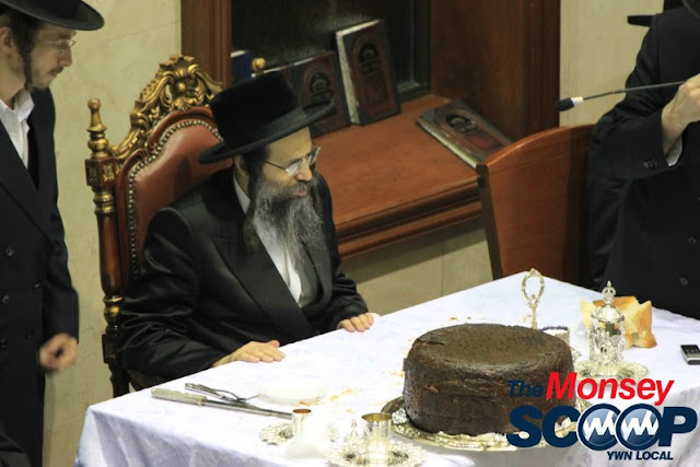 Yartzheit Tish For Stamar Rebbe Held In Satmar Beis Medrash Of Monsey (Photos by Moshe Lichtenstein) - IMG_5526.JPG
