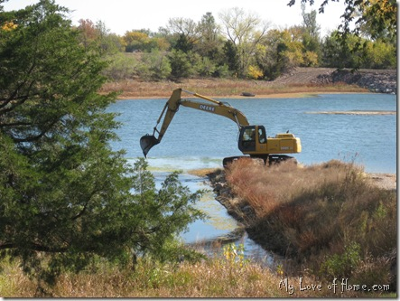 Backhoe lake, Kansas